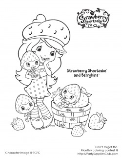 Strawberry Shortcake Coloring Pages - Free Printable Colouring